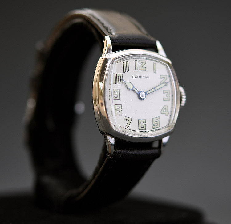 20s HAMILTON USA 'Cushion Plain' Gents Art Deco Watch