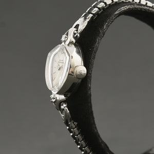 60s GIRARD-PERREGAUX 'Shield' Ladies 14K Gold/Diamonds Watch