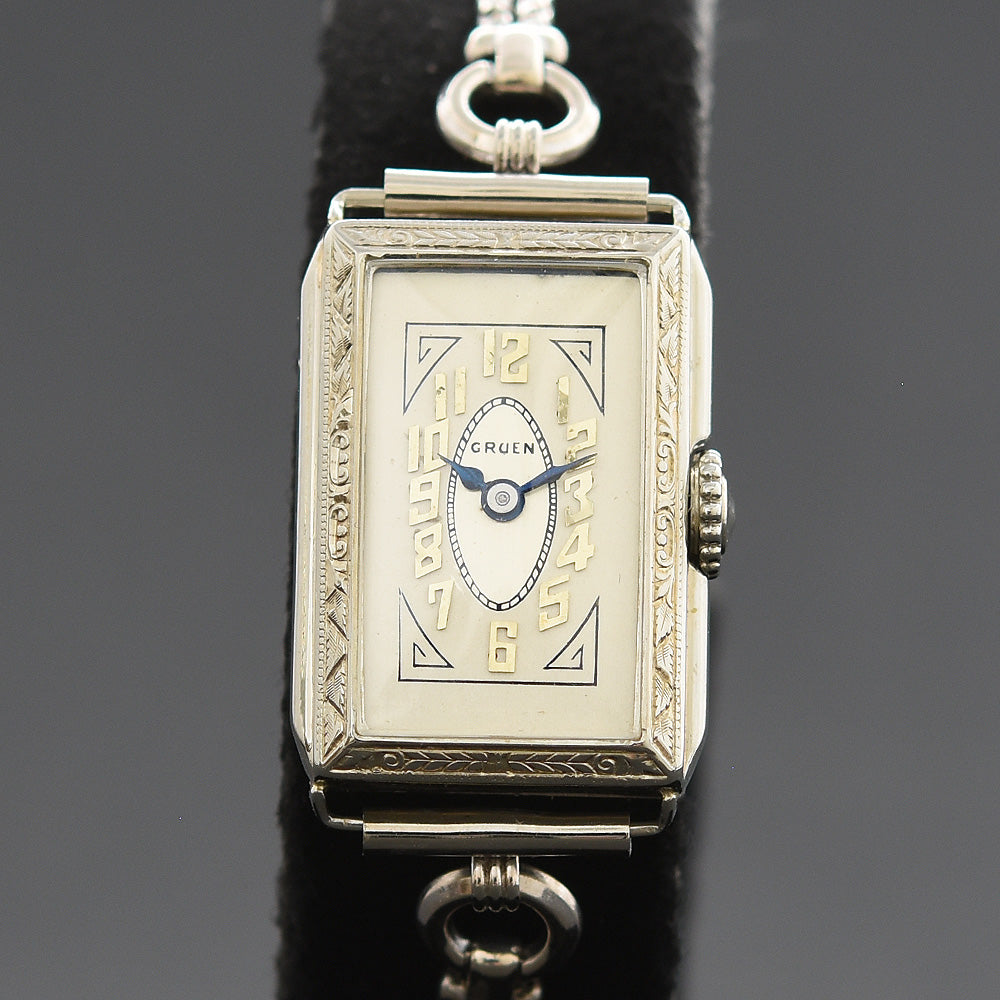 20s GRUEN 14K Gold Art Deco Ladies Watch