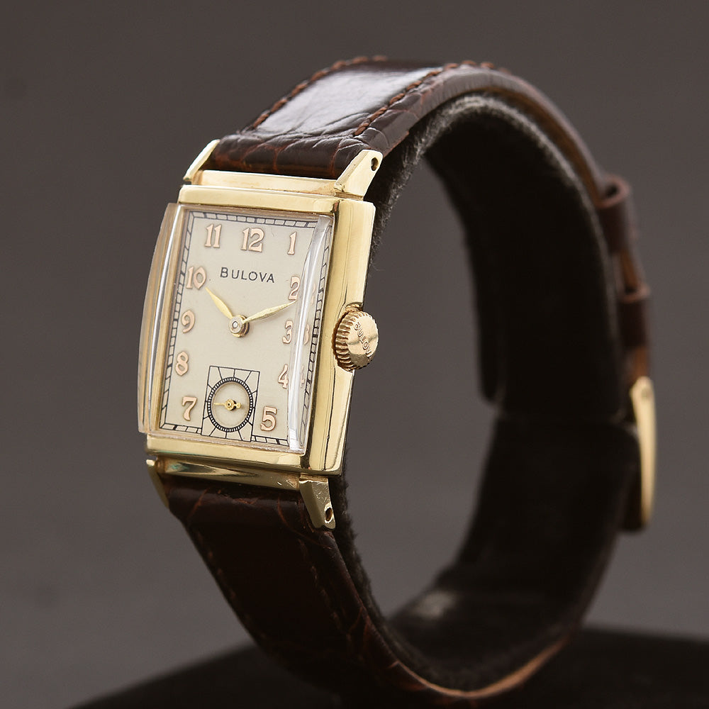 1941 BULOVA USA 'President' 14K Solid Gold Gents Vintage Watch