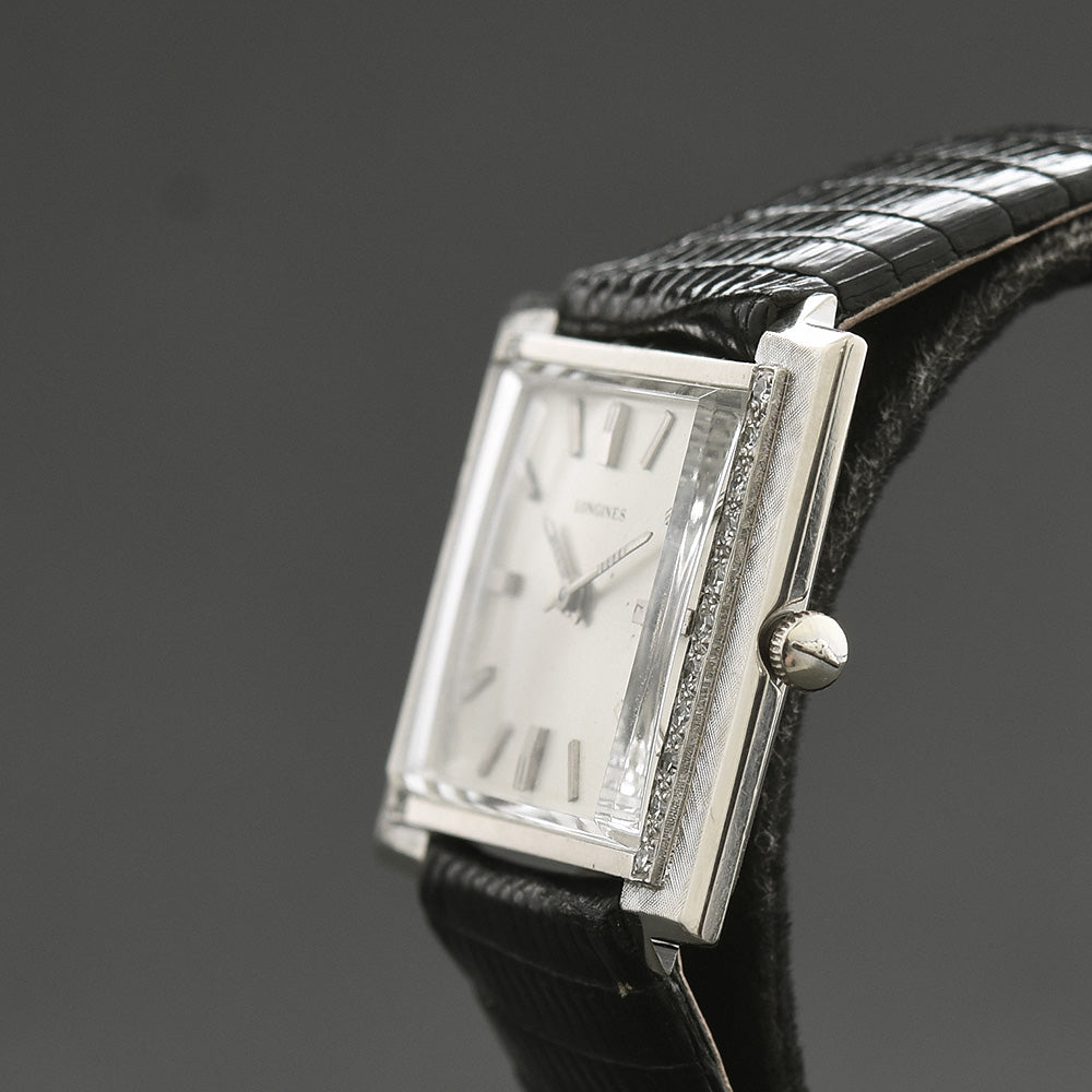1967 LONGINES 'Creation 1921' 14K Gold/Diamonds Slim Dress Watch
