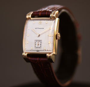 50s WITTNAUER Gents 14K Solid Yellow Gold Dress Watch