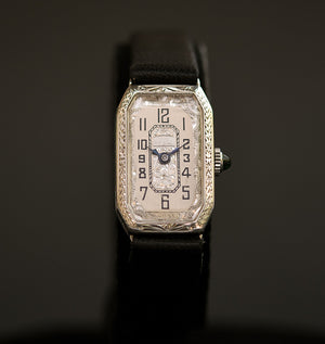 20s CORNAVIN Ladies Art Deco 14K Gold Watch