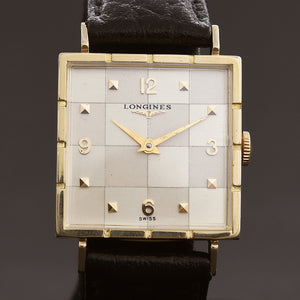 1958 LONGINES 'Checkers' Gents Vintage Dress Watch Ref. 750-48