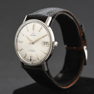 60s ENICAR Automatic 'Ocean Pearl' Date Gents Vintage Watch