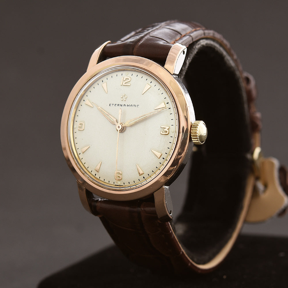 50s ETERNA Eternamatic Gold Cap Gents Watch