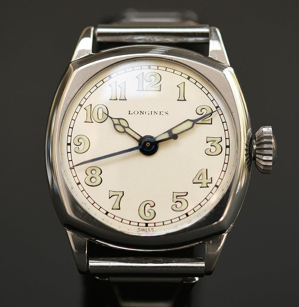 1929 LONGINES Gents Military Style Art Deco Watch