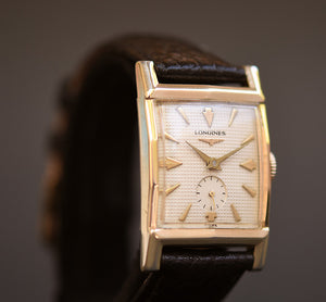 1956 LONGINES 'Everett' Gents Waffle Dial Vintage Dress Watch