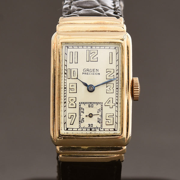 1932 GRUEN 'Quadron 123' Gents Art Deco Watch 123-102