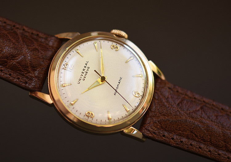 50s UNIVERSAL GENEVE Gents Bumper Automatic Vintage Watch