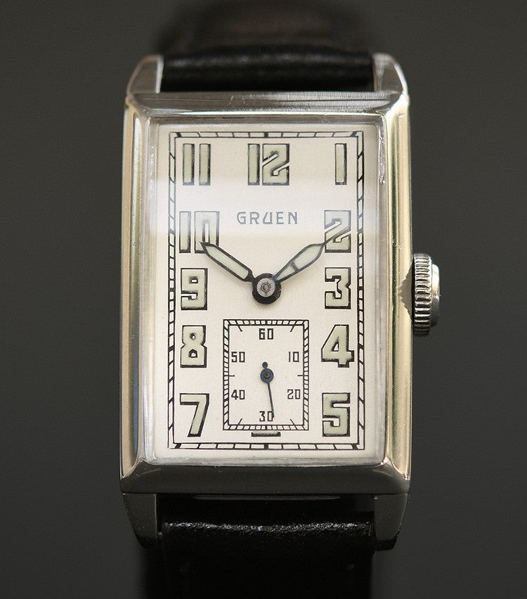 1929 GRUEN 'Quadron' Gents Art Deco Watch