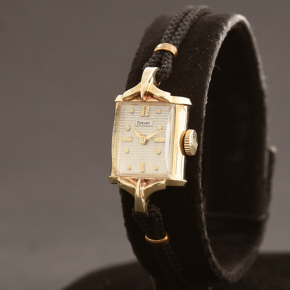 50s CERTINA Tiffany Ladies 14K Cocktail Watch