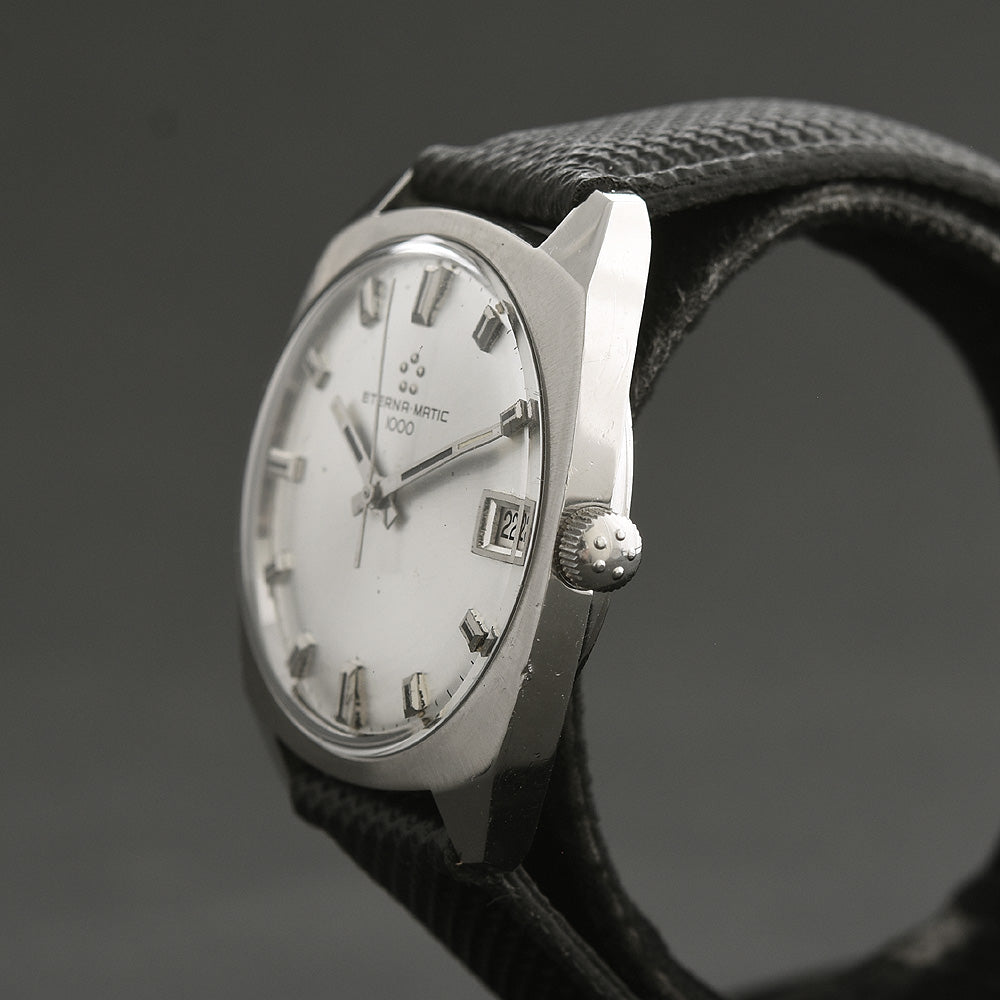 60s ETERNA Eternamatic 1000 Date Swiss Vintage Watch