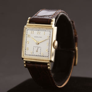 1952 HAMILTON USA 'Glenn' 14K Gold Gents Dress Watch