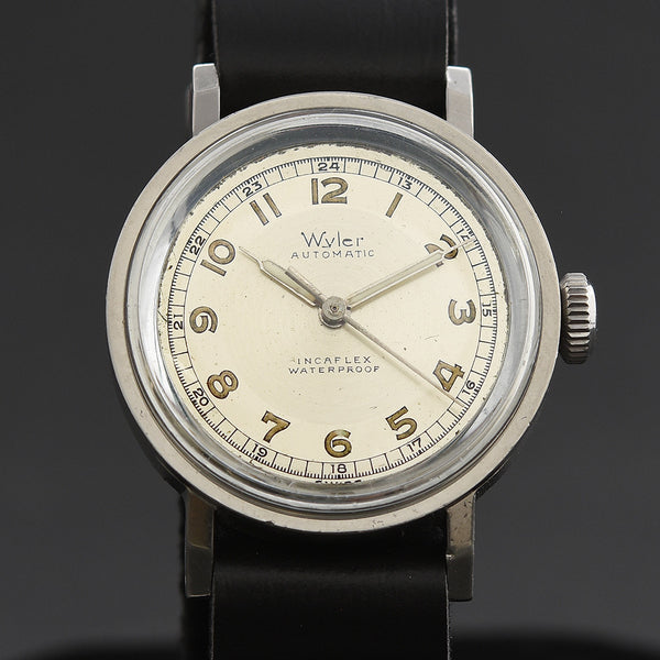 40s WYLER IncaFlex Bumper Automatic Gents Military Style Watch