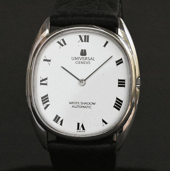 70s UNIVERSAL GENEVE 'White Shadow' Micro-rotor Slim Watch