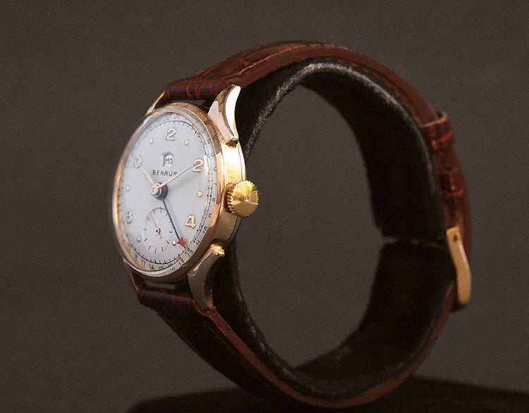 40s BENRUS Gents Calendar Day/Date Vintage Watch