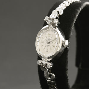 60s GRUEN 14K Gold/Diamonds Swiss Ladies Cocktail Watch