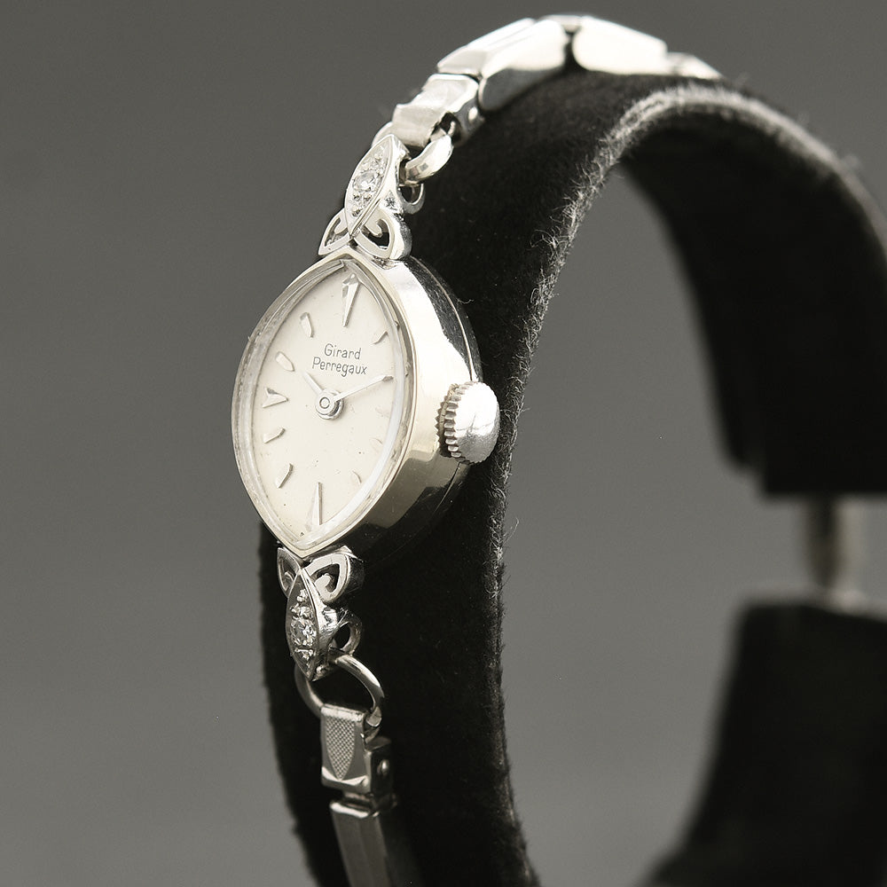 60s GIRARD-PERREGAUX Ladies 14K Gold/Diamonds Watch