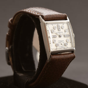 1945 LONGINES J.E. Caldwell Gents Palladium Diamonds Dress Watch