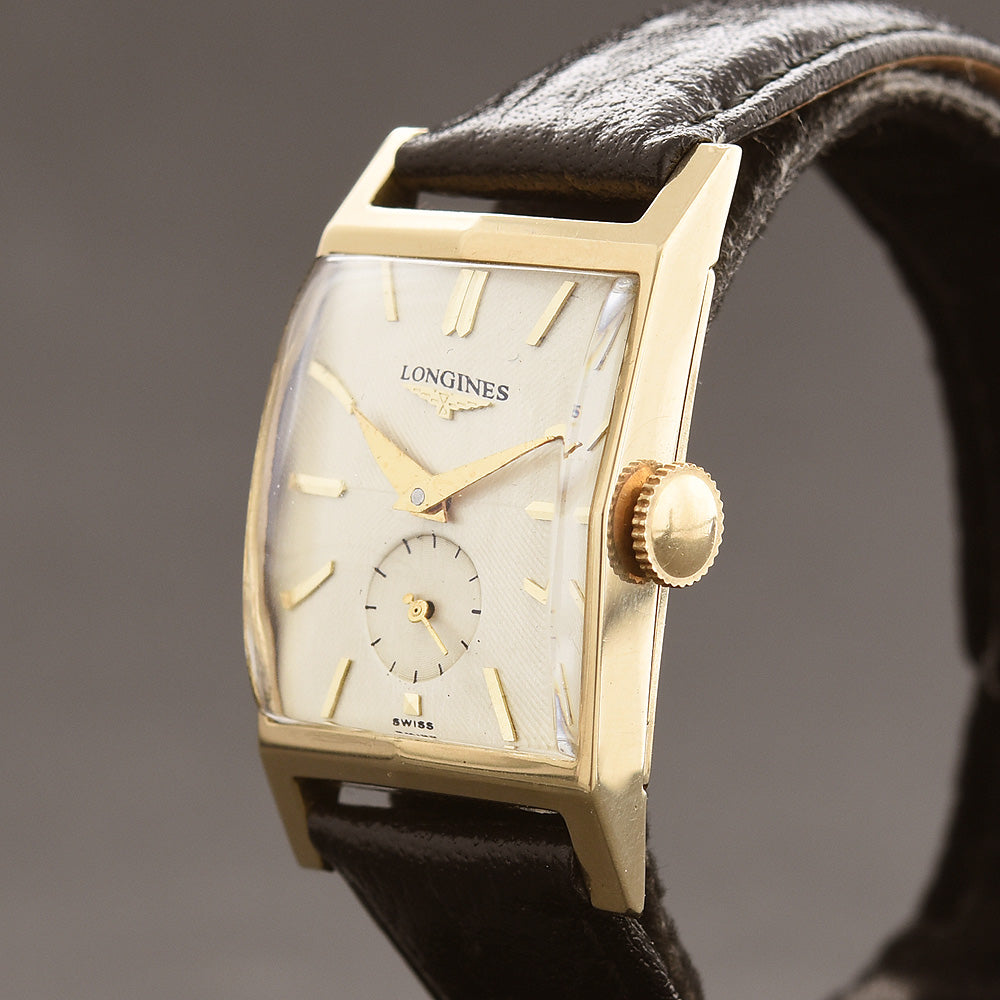1952 LONGINES 'Pres. Roosevelt' Gents 14K Solid Yellow Gold Vintage Watch