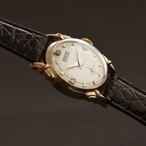 1950 GRUEN 'Autowind' Diamond Dial Swiss Gents Dress Watch