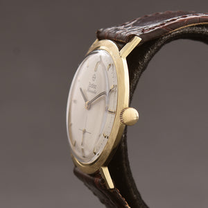 60s ZODIAC Hermetic Gents Florentine 14K Solid Gold Watch
