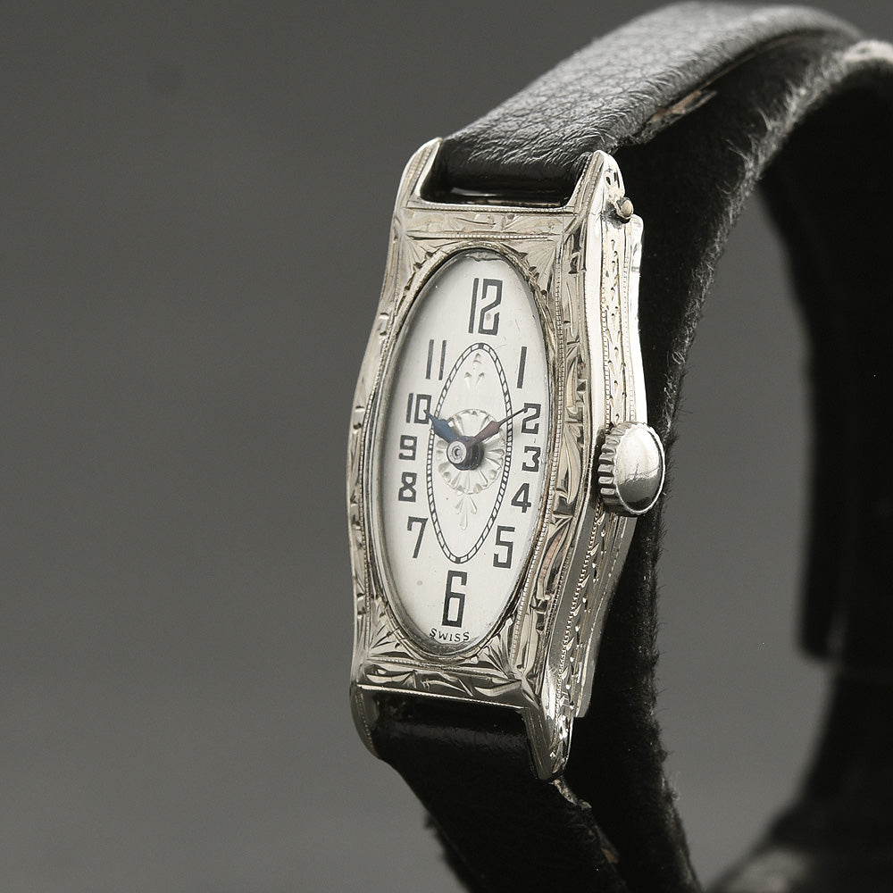 ETERNA Ladies Art Deco Swiss 14K Gold Watch