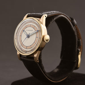 1941 LONGINES Aviator Dial Dial WW2 Style Gents Watch