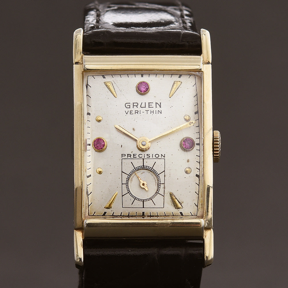 1948 GRUEN Verti-Thin Swiss Gents Watch 335-606