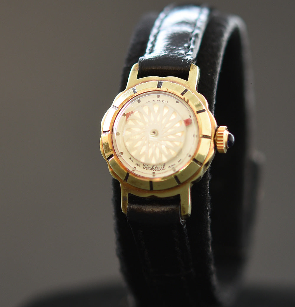 60s ERNEST BOREL Cocktail® 'White Flower' Ladies Vintage Watch