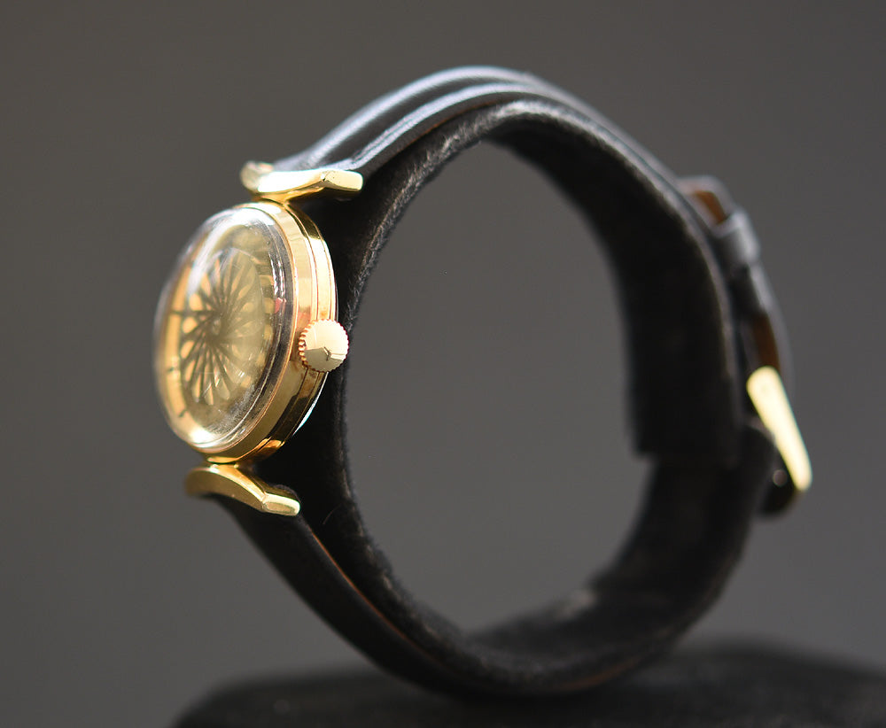 50s ERNEST BOREL Cocktail® Black Ladies Vintage Watch