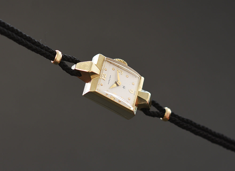 1958 HAMILTON 'Vicki' 14K Gold Swiss Cocktail Watch