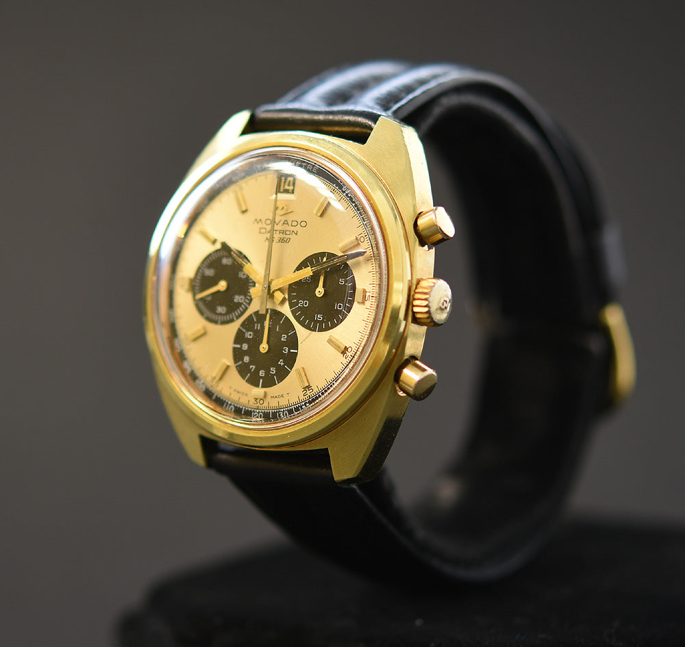60s MOVADO Datron HS360 Automatic Date Chronograph Swiss Watch