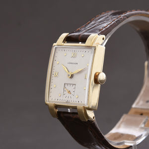 1949 LONGINES Gents Classic 14K Solid Gold Dress Vintage Watch