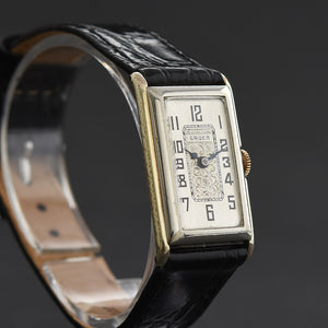 20s GRUEN Ladies Tutone Art Deco Watch