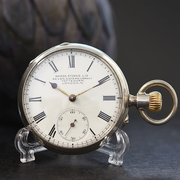 1900 WARDS STORES Swiss Open Face Pocket Watch