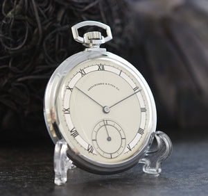1941 LONGINES Swiss Slim Art Deco Pocket Watch