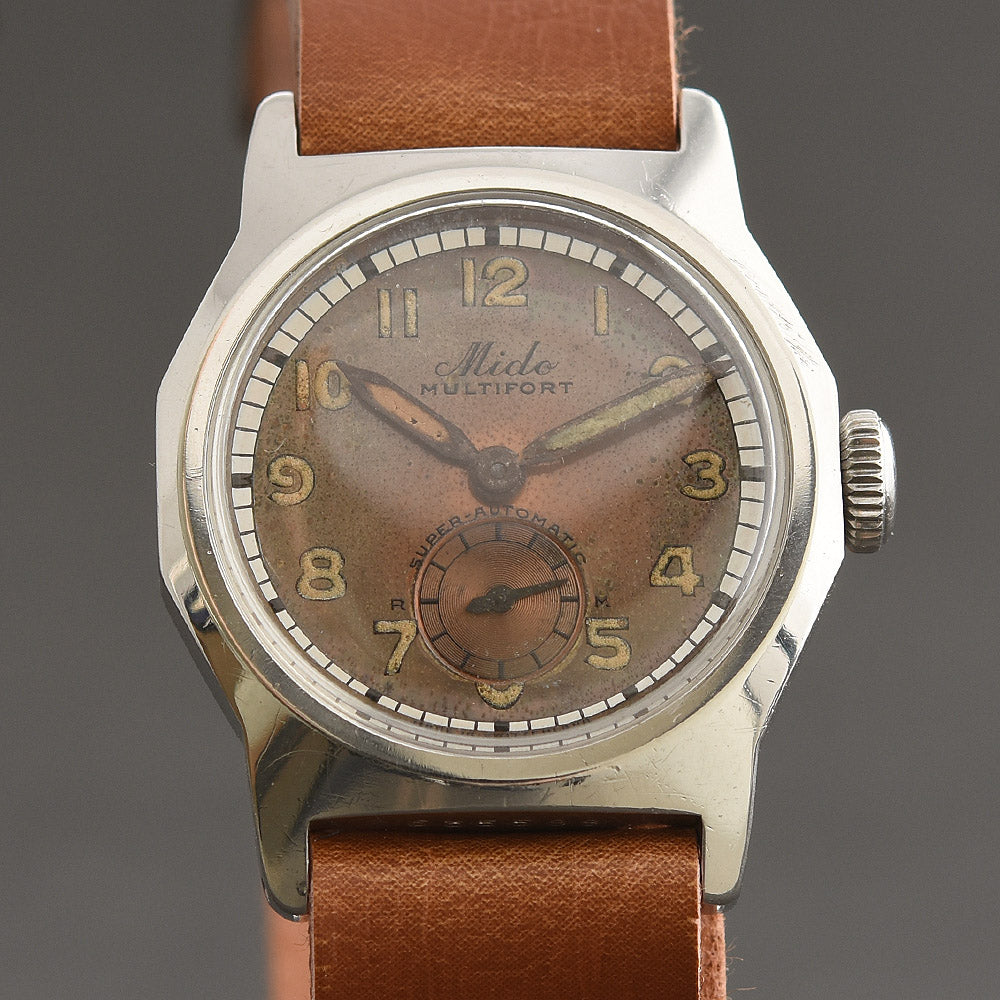 50s MIDO Multifort Super-Automatic Bumper Gents Military Style Watch