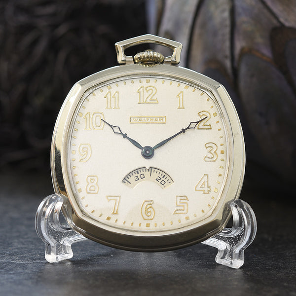 1931 WALTHAM USA 'Secometer' Art Deco Pocket Watch