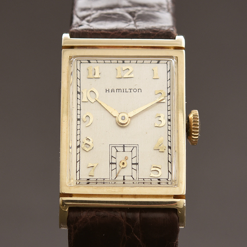 1952 HAMILTON USA 'Gilbert' 14K Gold Gents Dress Watch