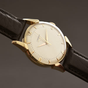 1950 LONGINES 'Pres. Cleveland' Gents 14K Solid Gold Watch