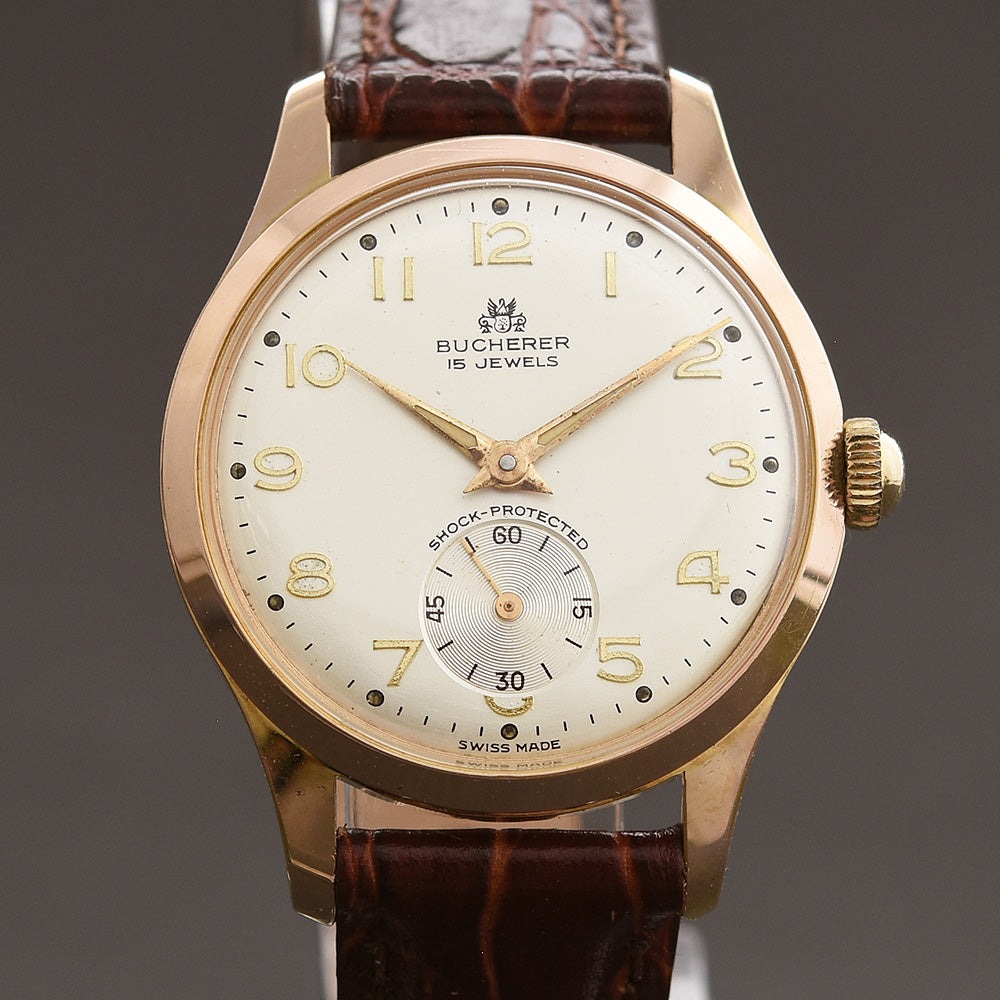 50s BUCHERER Classic Midsize Swiss Gents Watch