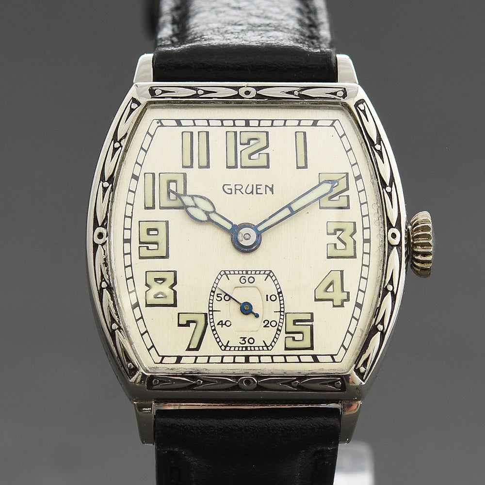 20s GRUEN Guild Gents Art Deco Enamel Watch