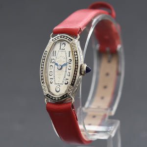 20s WARWICK Ladies Art Deco 14K Gold/Enamel Watch