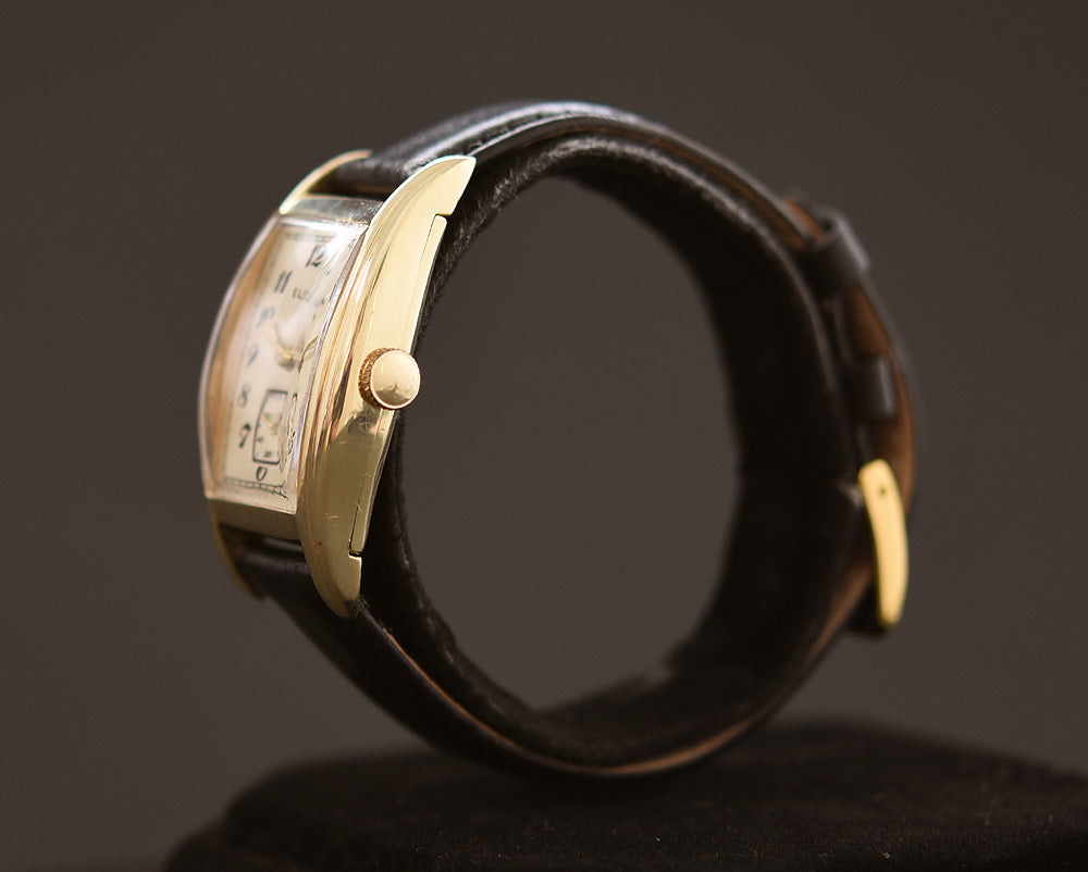 1938 LORD ELGIN USA 14K Gold Art Deco Gents Watch