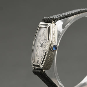 20s BELMONT/Warwick Ladies Art Deco 14K Gold/Enamel Watch