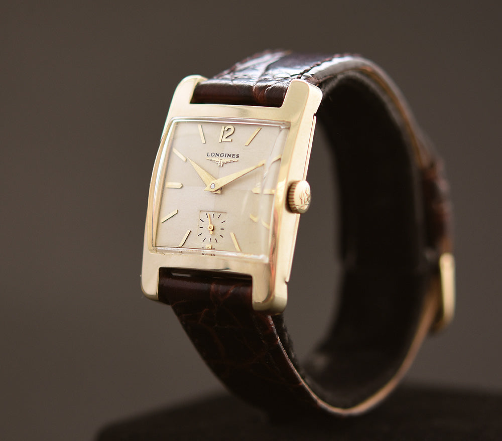 1954 LONGINES 'Pres. Coolidge' Gents 14K Gold Vintage Watch