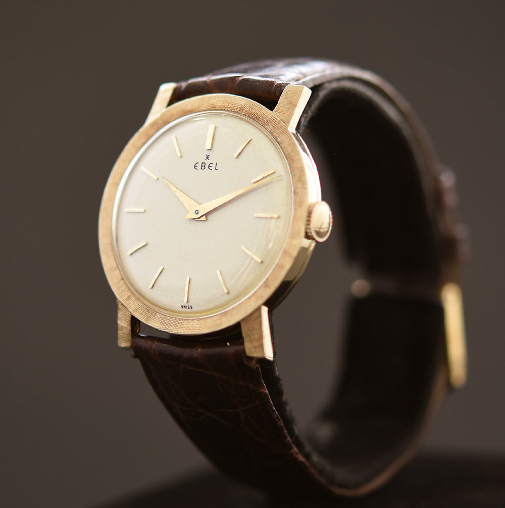 60s EBEL Gents Florentine 14K Solid Gold Watch