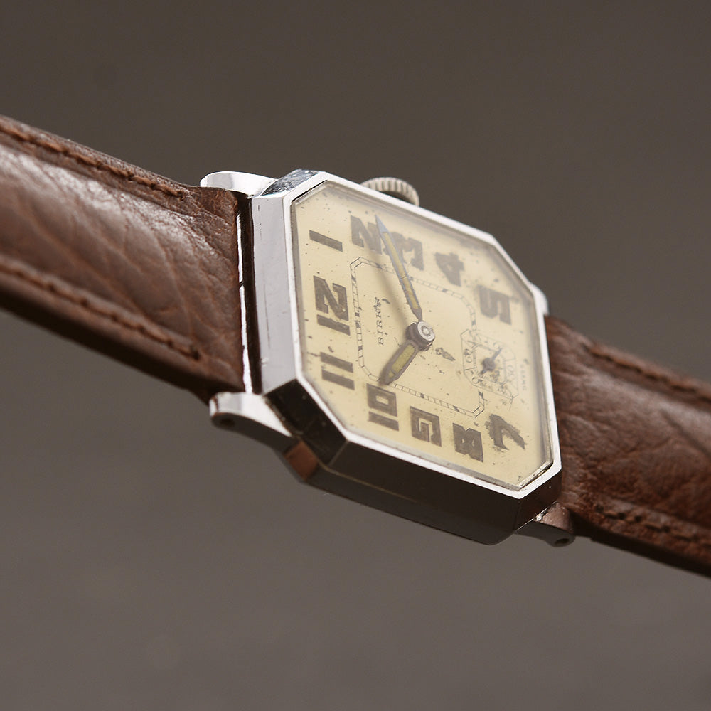 30s CYMA BIRKS Gents Octagon Art Deco Watch